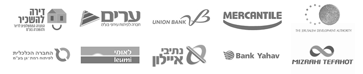 Leumi Bank Ltd. Mizrahi Tfachot Bank Ltd. Mercantile Discount Bank Ltd. Bank Igud (Union Bank). Bank Yahav. The Economic Society for Developing Ramat Gan. Arim Company Limited